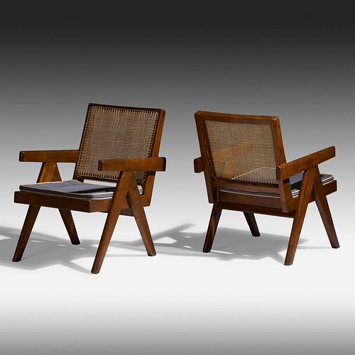 Pierre Jeanneret, Easy armchairs from Punjab Engineering College, Chandigarh, pair