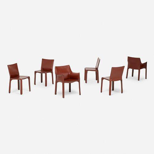 Mario Bellini, Cab chairs, set of six