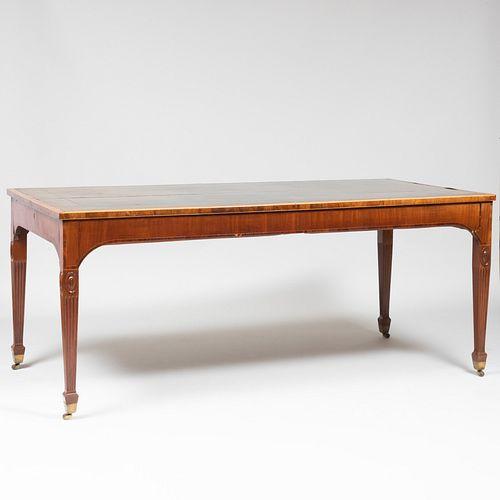 George III Inlaid Mahogany Desk
