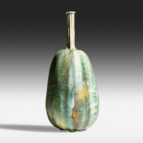 Taxile Doat likely for University City, Exceptional and Rare gourd vase