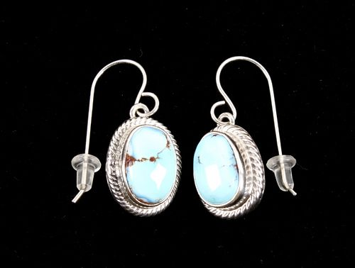 Navajo Golden Hills Turquoise Sterling Earrings