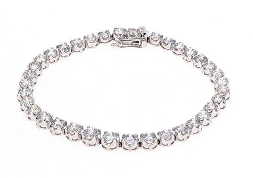 Amazing 10.53ct Diamond Platinum Bracelet w/ AIGL