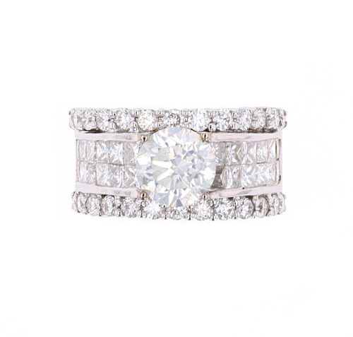 Hana 5.00ct VS1 Diamond 18K Ring -EGL & AIG Papers