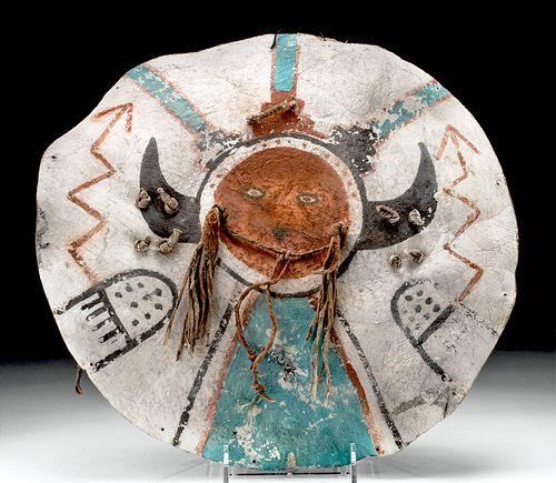 19th C. Native American Pueblo Hide Dance Shield