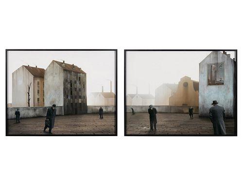 Paolo Ventura (Italian, b. 1968) Behind the Walls #07 A & B (diptych), 2011