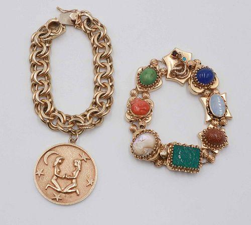 14K Yellow Gold Slide Bracelet