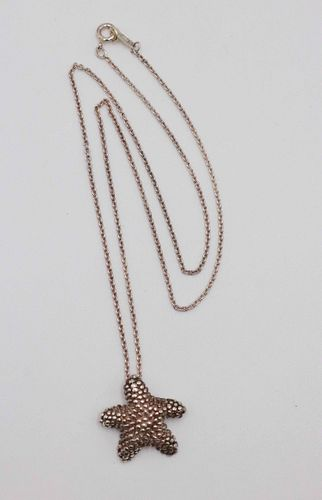 Tiffany Sterling Silver Starfish Necklace