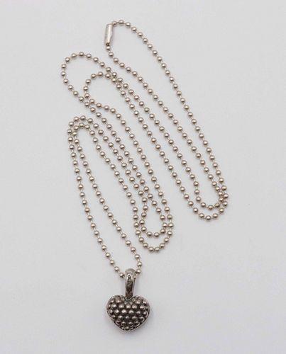 Lagos Caviar Sterling Silver Heart Pendant