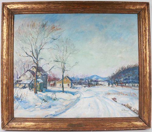 Walter Emerson Baum, Oil on Board, Ridge Valley