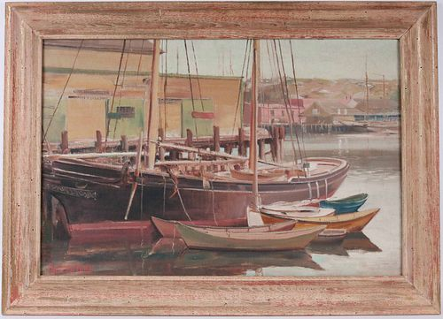 """Charles Corwin, Oil on Canvas """"Out of Commission"""""""