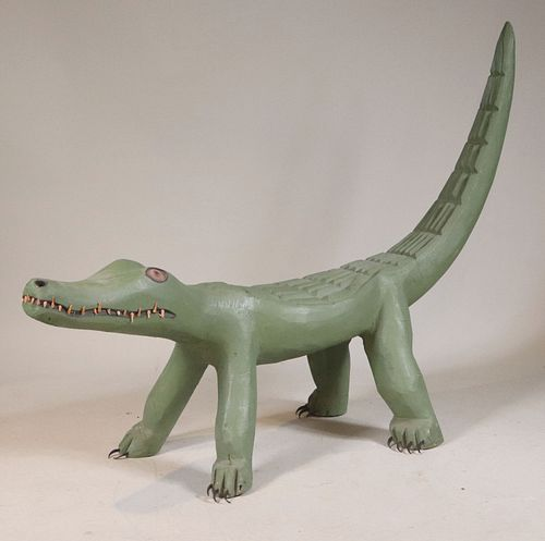 Leroy Archuleta, Carved and Painted Alligator