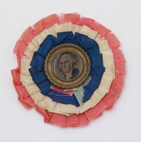 George Washington Tintype Patriotic Ribbon Pin