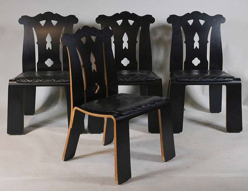 Four Robert Venturi Chippendale Chairs