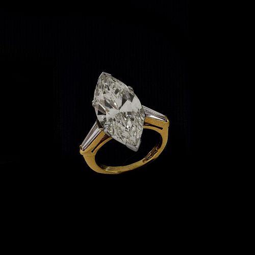 6.75 Carat Diamond and 18K Ring