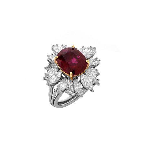 AGL Ruby, Diamond and Platinum Ring