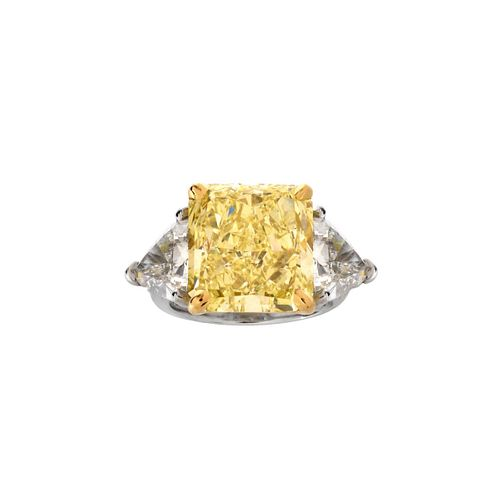 GIA 14.71ct Fancy Yellow Diamond Ring