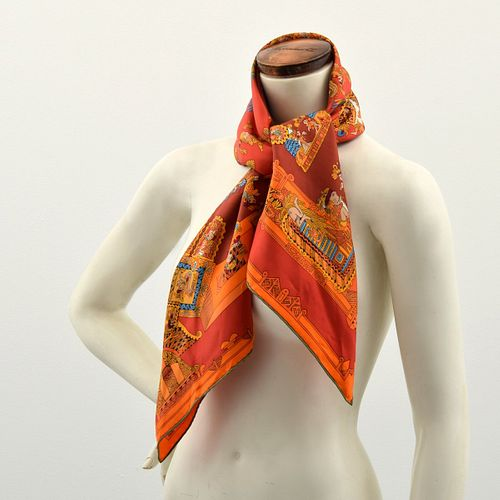 "Hermes ""Astres et Soleils"" Silk Scarf"