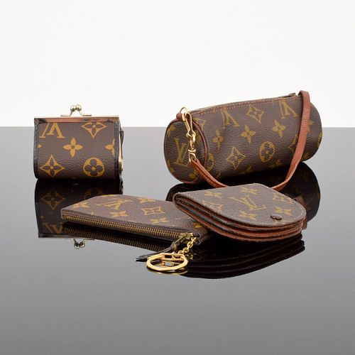 4 Louis Vuitton Monogram Pouches/Accessories
