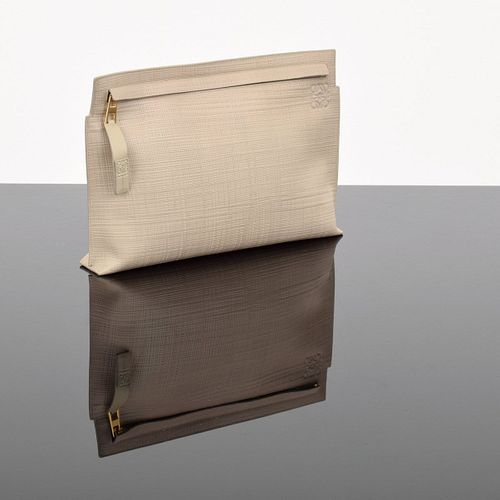 Loewe Large Textured Cosmetic Pouch