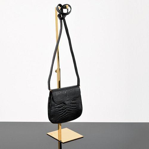 Lana Marks Alligator Flap Clutch/Shoulder Bag