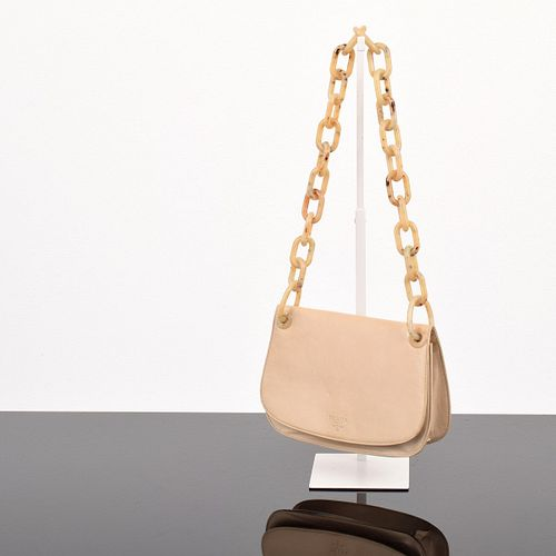Prada Madras Swing Chain Link Shoulder Bag