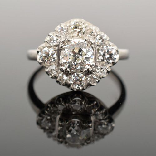 Platinum & Diamond Estate Ring