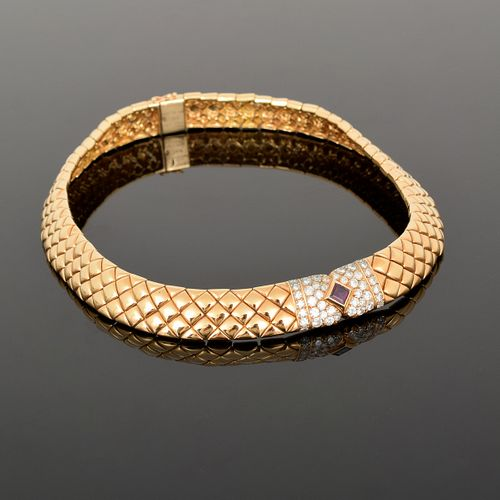 Van Cleef & Arpels 18K Gold, Diamond & Ruby Necklace