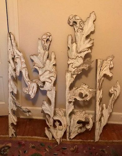Rare Antique European/Russian Carved Wood Architectural pieces pre1900