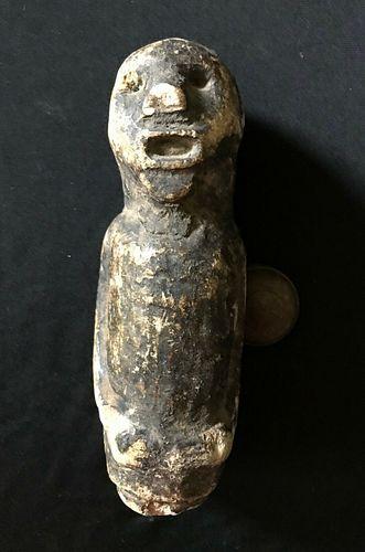 Antique African Stone Effigy Figure Sculpture