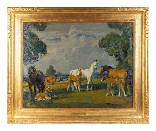 Frank Hoffman (American, 1888-1958) Taos Pastures