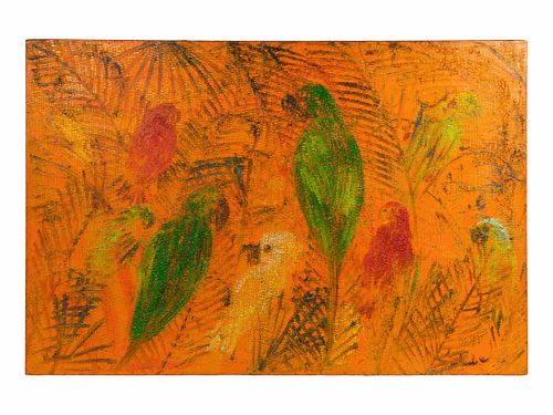 Hunt Slonem (American, b. 1951) Untitled (Parrots)