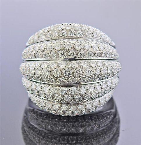 Damiani 18k Gold Diamond Cocktail Ring