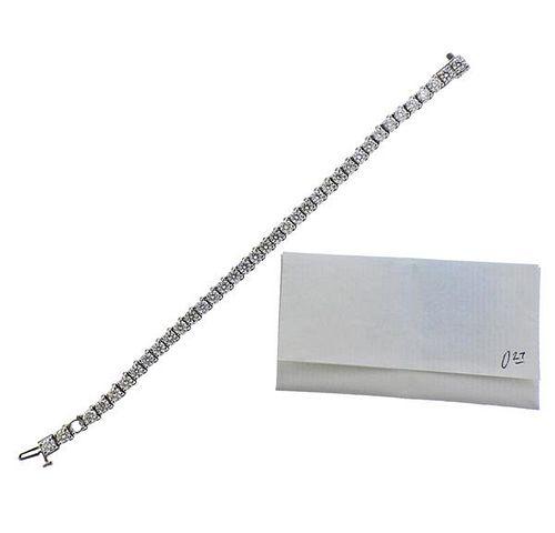 10.25 Carat Diamond 14k Gold Line Bracelet