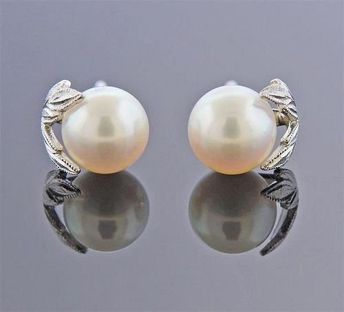 Mikimoto 18k Gold Pearl Stud Earrings