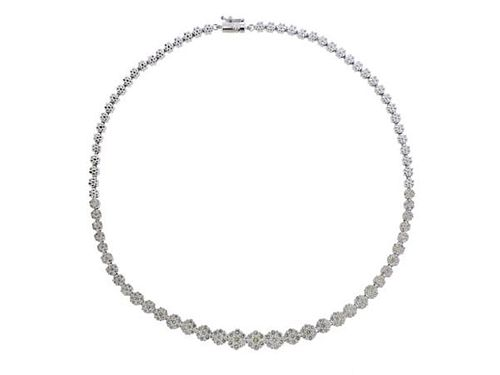 18K Gold 10 Carat Diamond Necklace