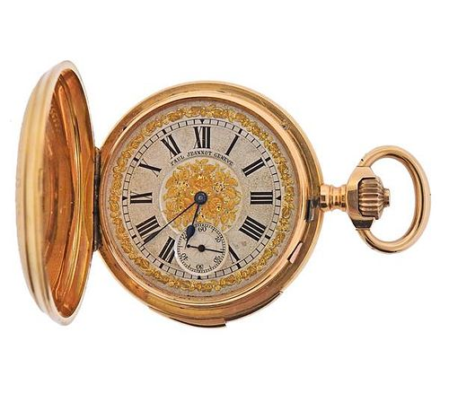 Antique Paul Jeannot 18k Gold Minute Repeater Pocket Watch