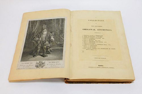 17-19C Collection of 200 Original Etchings Book