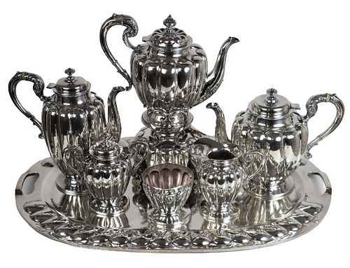 Mexican Sterling Silver 183 OZT Prieto Tea Set