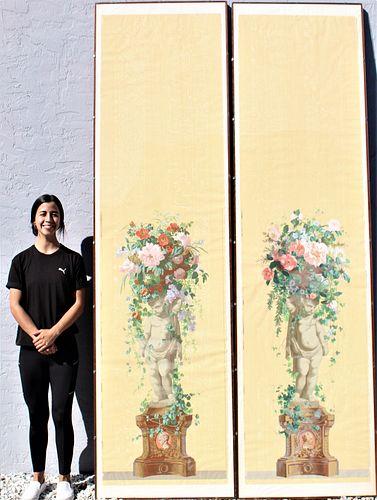 Pair of Monumental Zuber Wallpaper Panels