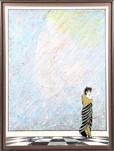 James Morlock (- 1996) Graphic Art Image, Framed