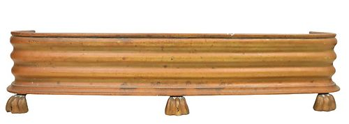 Brass Footed Fireplace Fender