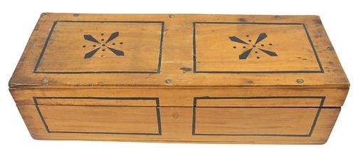 Large Wooden Hinged Box