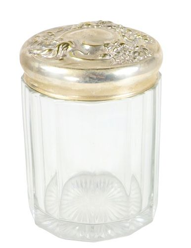 Crystal Canister with Silver Lid