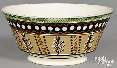Large mocha bowl, with twig decoration