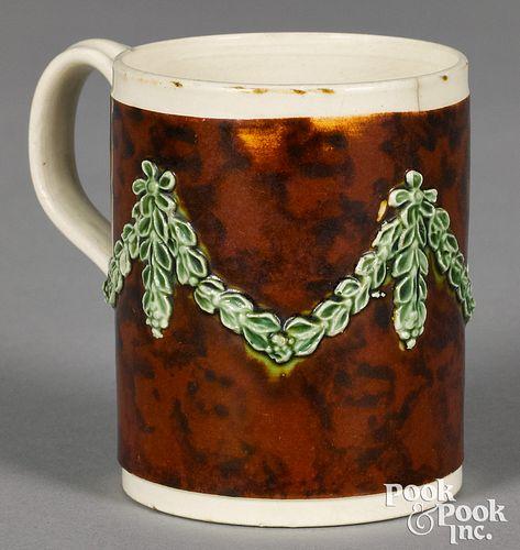 Mocha child's mug, with mottled brown glaze