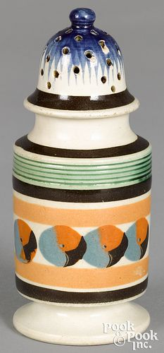 Mocha pepper pot, with cat's-eye decoration