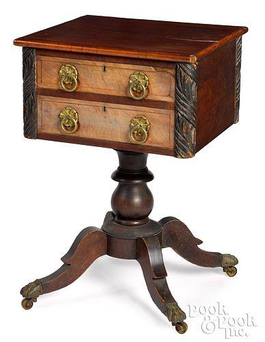 Baltimore, Maryland Empire mahogany work stand