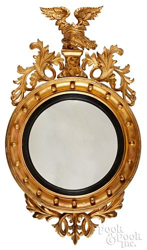 Federal giltwood convex mirror