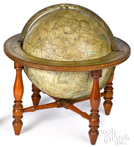 Loring's celestial globe on stand