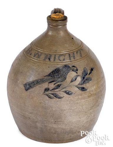 Historically important New York stoneware jug